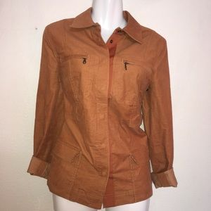 Anthropology tyler boe brown button jacket size 6